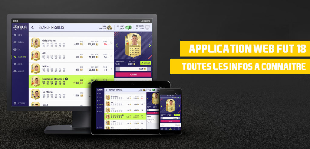 date de sortie application web fut 18 - fifa 18