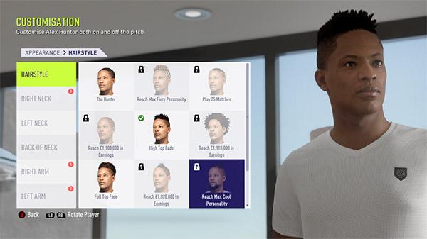 les modes de jeu disponibles dans la demo FIFA 18